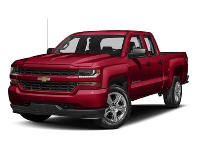 """2018 Chevrolet Silverado 1500 2WD Double Cab 143.5"""" Custom - Click to see full-size photo viewer"""